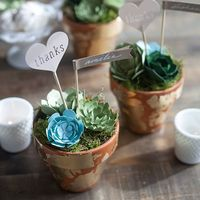 These paper succulent DIY wedding favors are perfectly on trend and have the added bonus of lasting a lifetime, so your guests have the ideal memento of your bi