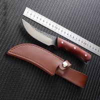 Hand forged Hunting Knife Fixed Blade Leather Sheath $62.00
