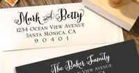 Custom Return Address Stamp with a curly by Designkandy on Etsy, $24.95