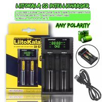 Liitokala S2 Intelligent Charger LCD Universal Battery Charger 18650 14500 AAA Li-ion Ni-MH 2-Bay Rechargeable Digital Display