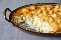 The key to perfectly creamy baked macaroni and cheese, courtesy of Martha Stewart.