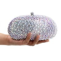 Exclusive Silver Diamond Handmade luxury Evening Clutch Bag $1940.04