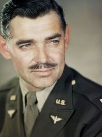 Clark Gable photographed in England, 1943