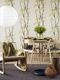 dining area with bamboo paper from skonahem