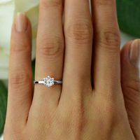 100% Pure Diamond Solitaire Ring IGI Certified 1/2 ct Natural Diamond Ring For Women IJ-Color I3-Clarity 14K White Gold Diamond $464.10
