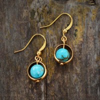 Natural Stone Drop Earring $18.99