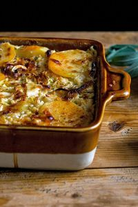 Like slow-cooked onions, slow-cooked cabbage takes on color, becoming meltingly tender and sweet Because of the bulk of the potatoes, this gratin makes a satisf