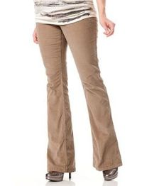 Maternity Pants - Tan Corduroy Motherhood