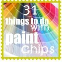 Ideas for using paint chips