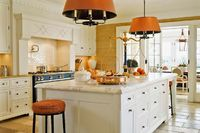 Bright kitchen with colorful accents | Anne Decker Architects