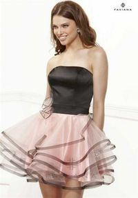 Faviana 6911 Short Ruffled Homecoming Dress