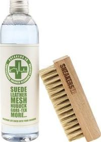 Sneakerser Clear Cleaner Kit Shoe Care Breathe life back into your trainers with the help of the Cleaner Kit from SneakersER. The kit includes a 250ml bottle of professional cleaning solution which can be used on suede, leather, mesh, nubu http://www.comp...