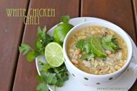 This White Chicken Chili recipe is my good friend and neighbors, Debbie. She's an awesome cook'�'�' I've always loved the recipes of hers that I've tasted! She made this White Chicken Chili once for a gathering, it took me ...