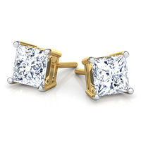 Princess cut Stud Earrings, 3 ct Studs Wedding Earrings, Princess Earrings $732.00