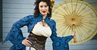 Woweewowowza, check out Offbeat Bride Tribe member Adrianna in her fantabulous steampunk wedding dress. She recently did a photo shoot with photographer, Thomas