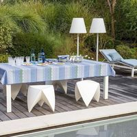 Color Rock Denim Table Linens by Le Jacquard Français $190.00