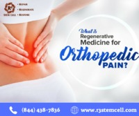 Stem cell therapy for orthopedics.