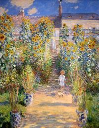 The Artist's Garden at Vétheuil (1880, Claude Monet)