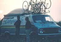 Campgnolo van and bikes