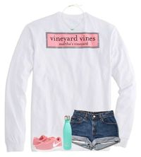 """""""sort of a copy of one of my older sets;)"""" by ellienoonan � liked on Polyvore featuring Vineyard Vines, Kendra Scott, S'well and NIKE"""