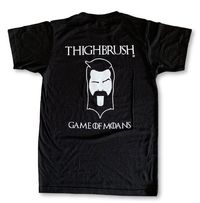 """LIMITED EDITION - THIGHBRUSH® - """"GAME OF MOANS"""" - Men's T-Shirt - Black with White"""