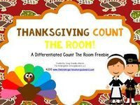 FREE! Thanksgiving count the room! Differentiated kindergarten math counting activity!