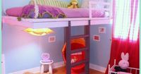 DIY Hanging Loft Girls Bed Tutorial
