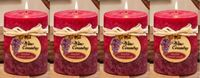 Deco Breeze Sculpted Wine Candle 3x4 Pillar Set Of 4 Stunning NEW Candles beauty