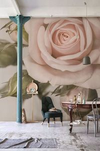 one thing you can always count on with designlovefest is our undying love for flowers. even if they are giant and on the wall.