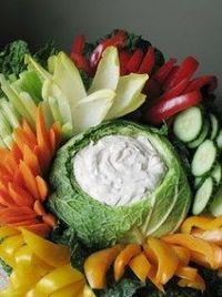 Cabbage Bowl Dip with Raw Vegetables   Square Pennies