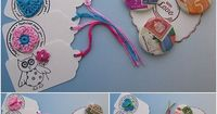 Cute tags with crochet elements