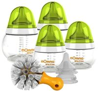 mOmma by Lansinoh Bottle Kit with Nipples - Best bottle for breastfed babies, best slow flow nipple