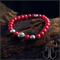 f79628618cc0 Chrome Hearts Bracelet Red Cross Embossed Silver Beads Outlet Red Chrome  Hearts Coralal Cross Embos.