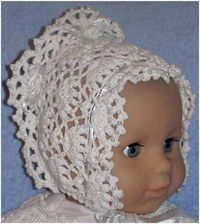 3 Infant Bonnet Beauties free crochet graph patterns