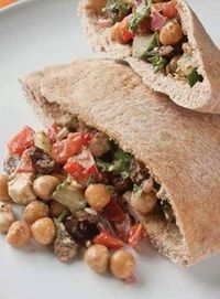 Mediterranean Chickpea Pitas with Creamy Tahini Dressing - Fit Pregnancy