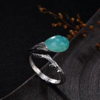 boho ring-solitaire ring