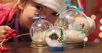waterless snow globes - the cutest!