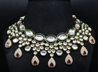 Indian bridel Real kundan luxuriously grand look necklace $257.00
