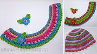 Cute collar for girls dress. Love the colors!