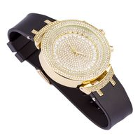 Gold Finish Clear CZ Inlaid Dial Watch £34.99