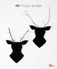 Ohoh Blog - diy and crafts: Twigs Reindeer
