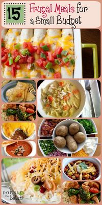 Wondering what to make for dinner when money is tight? We got you covered! Here are 15 meals my family has been making for several years. Delicious and frugal too!