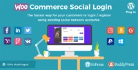wooCommerce-social-login-banner.png  WooCommerce Social Login extension allows users to login and checkout with social networks such as Facebook, Twitter, Google, Yahoo, LinkedIn, Foursquare, Windows Live, VKontakte (VK.com), Instagram, PayPal a...