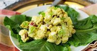 My Coronation Chicken recipe is an unintentional variation on a classic. With apples, raisins and cashews in curry sauce, it is sweet, savory and delicious!
