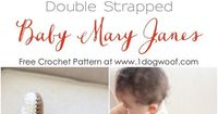 Use this free baby mary janes crochet pattern to whip up an adorable pair of baby shoes for you or a friend.