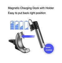 Bakeey Z4 Bussiness HIFI bluetooth Earphone DSP Noise Reduction Long Standup Single Ear Earbuds with USB Charging Magnetic Car Headphone Mount Holder