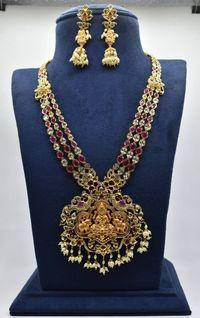 Elegant Laxmi idols necklace $225.00