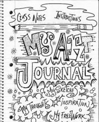 Keeping an art journal- weekly drawing for students to work on if they finish early. place to sketch out ideas. Doodle, zentangles, lettering