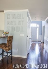 Canvas letters as wall art (and an incredible story!)