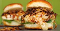 French Onion Chicken Sandwiches -- i'm thinking sliders and maybe even shredded chicken and use as an appetizer